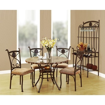 70555 KIT KLEEF 5PC DINING SET W/FAUX M