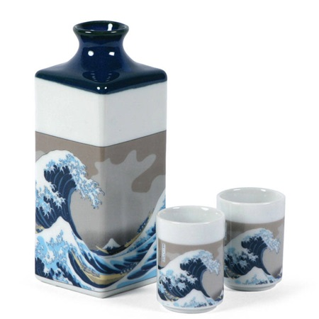 The Great Wave Sake Set
