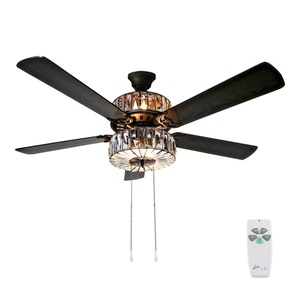 "52""W Caged Crystal Ceiling Fan"