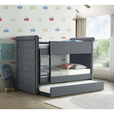 37855 Romana II Twin Over Twin Bunk Bed with Trundle