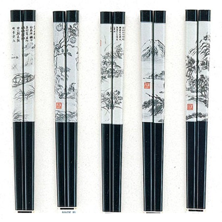 Chopsticks Scroll Art
