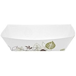 5 LB POLY COATED PAPER FOOD TRAY, WHITE,