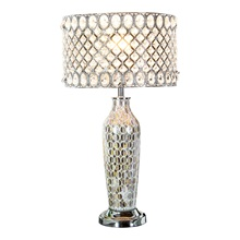 "24.75""H Pearl Mosaic and Crystal Glass Table Lamp"