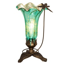 "9""H Dragonfly Lily Uplight"