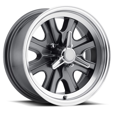 15 x 7 Legendary HB44 Alloy Wheel, 4 on 4.5 BP, 4.25 BS,  4 Lug, Charcoal / Machined