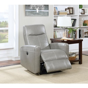 59688 GRAY POWER RECLINER