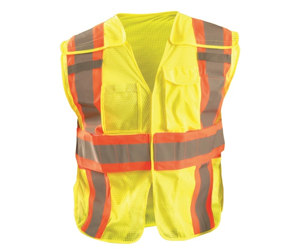 High Visibility Classic Mesh Two-Tone Expandable Vests
