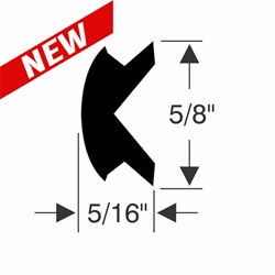 "5/8"" x 5/16"" Rub Rail Insert Repair Kit"