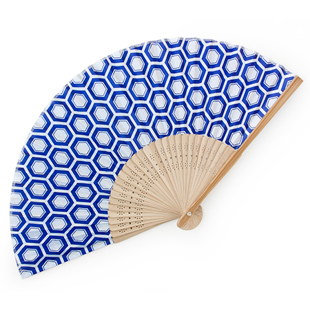 Folding Fan Kikkou Hexagon