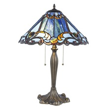 "25.5""H Tiffany Style Stained Glass Brandi Table Lamp"
