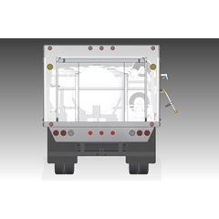 Illustration of back of Compact Lawn & Shrub Spray Truck