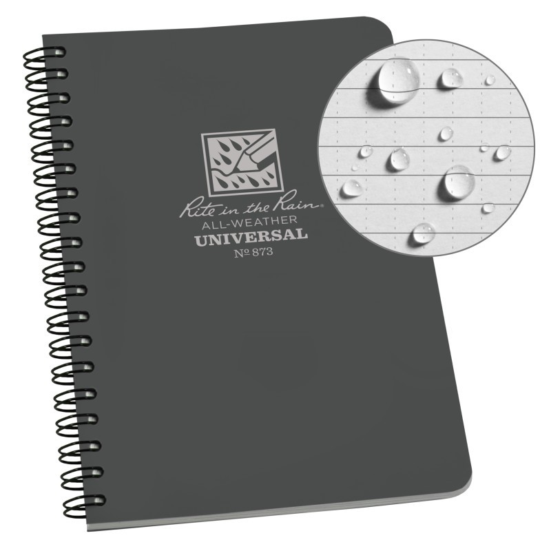 SPIRAL NOTEBOOK - BLACK - UNIV