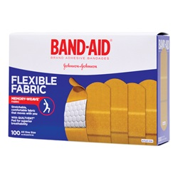Band-Aid Adhesive Bandages, Flexible Fabric