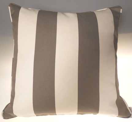 Grey and Creme Stripped Pillow
