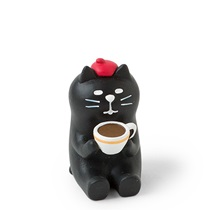 FIGURINE BLACK CAT COFFEE