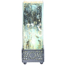 "12.9""H Studio Art Mercury Glass  Square Uplight Accent Lamp"