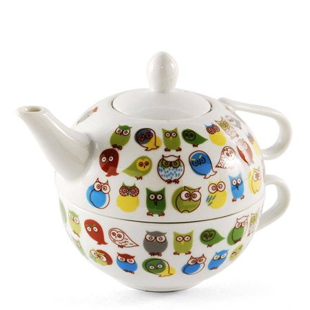 Green Owls Tea Set