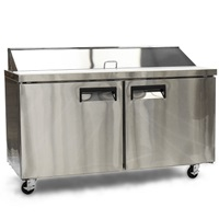 "Foodservice Essentials MRSL-2D/60 60"" W Refrigerated 2-Door Salad/Sandwich Prep Table"