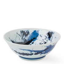 "Bowl 7.75"" Blue Sumi 3""H"