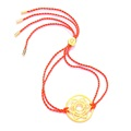 Daisy London Chakra Bracelet, Sacral, Gold with Orange Cord