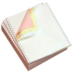 "9.5 X 11"" 3-PART CARBONLESS WHITE/CANARY/PINK CONTINUOUS FEED FORMS, 1200/CS   951323"