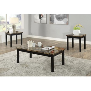 80045 3PC PK MARBLE C/E TABLE SET