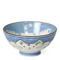 "Blue Cat 4.5"" Rice Bowl"