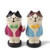 Figurine Cat Pair Sparkle