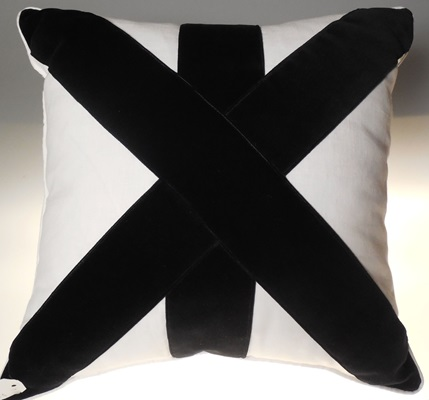 Black and White Crisscrossed Pillow
