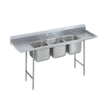 Advance Tabco 93-63-54-36RL Regaline Sink 3-Compartment
