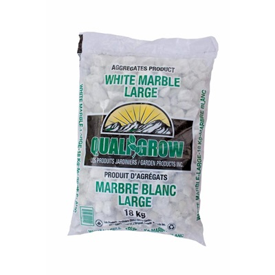 "Quali Grow White Marble Large (1"")"