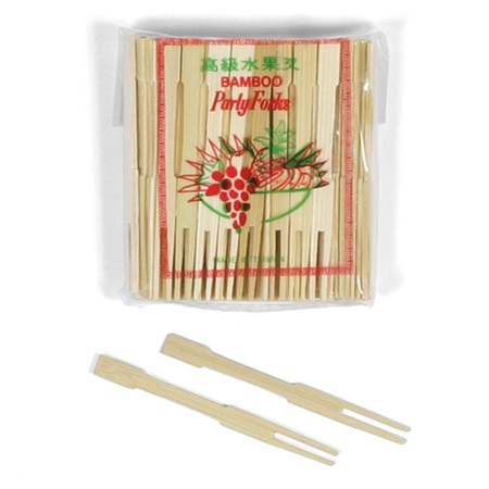Bamboo Fruit Forks