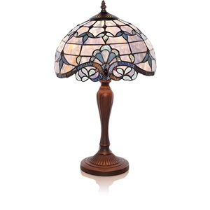 "20.5""H Stained Glass Blue Allistar Table Lamp"