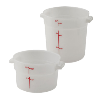 Winco PPRC-1W Food Storage Container 1 Qt.