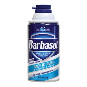 Barbasol Shaving Cream, Pacific Rush