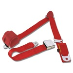 1964.5-73 Mustang 3-Point Seat Belt-Bright Red