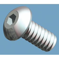 "Button Head Socket Screw, 6-32 X 5/16"", 18-8 Stainless Steel"