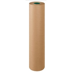 "36"" X 500' 88LB BROWN KRAFT ROLL, POLY COATED ON"