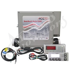 CONTROL: SMARTOUCH DIGITAL 2000 WITH 5.0KW HEATER, KP-2020 TOPSIDE AND CORDS IN OUTDOOR ENCLOSURE