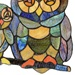 "11""H Tiffany Style Friendly Owls Panel"