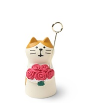 Figurine Cat Card Holder