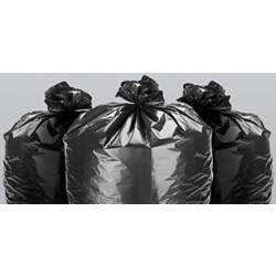 "24 X 32"" .7 MIL 12-15 GALLON BLACK CAN LINER, LOW"