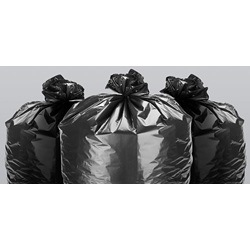 "33 X 39"" .5 MIL 33 GALLON BLACK CAN LINER, LOW"