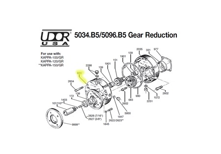 Gear Case Half for UDOR 5034.B5/5096.B5 Gear Reduction