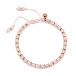 Lola Rose Notting Hill Bracelet, Rose Quartz with Rose Gold