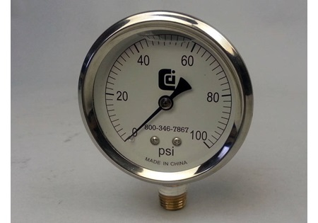 0-60 PSI Glycerin Filled Gauge