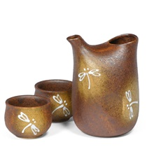 Igo Dragonfly Sake Set