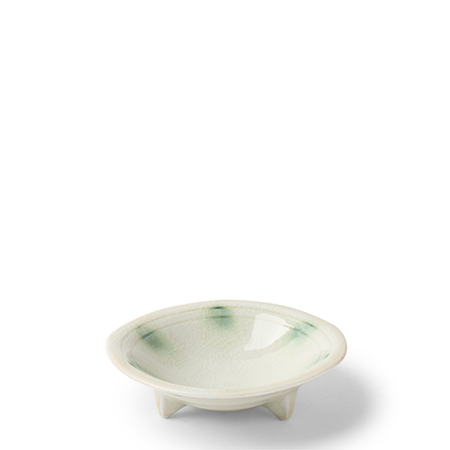 "Dotted Ivory  4"" Sauce Bowl"