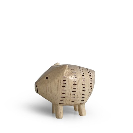 T-Lab Wooden Animal Zodiac Pig