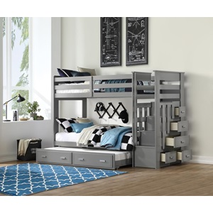 37870 Allentown Twin Over Twin Storage Bunk Bed with Trundle